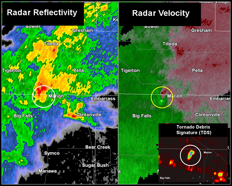 Radar map and velocity