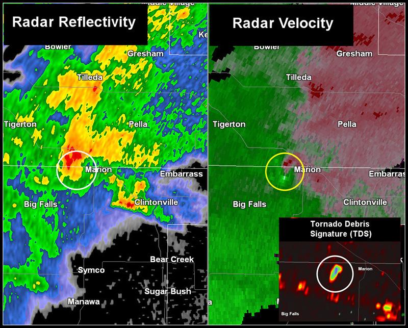 Radar map and velocity